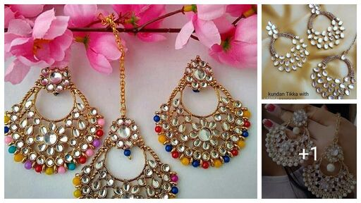Allure Chunky Maangtika ,Tika With Earrings
