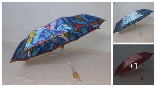 Stylish Attractive Designed Printed Multipurpose Three Fold Umbrella