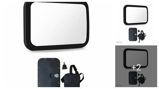 Safe-O-Kid -Pack of 1- Car Essential- Large  Mirror- Rear 360 Degre Rotational View