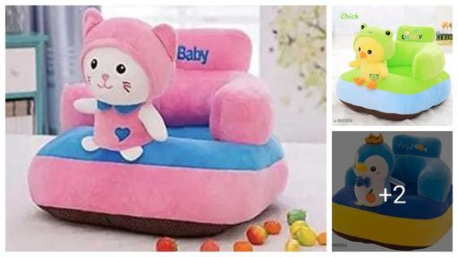Doodle Adorable Velvet  Baby Chair Seats