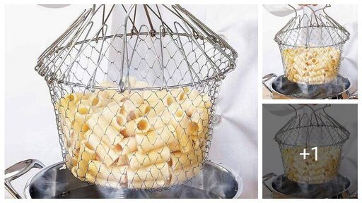 Foldable Steam Basket / Deep Frying Basket