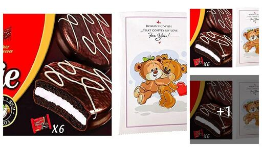 Heartfelt Love Teddy Card Gift Hamper with Lotte Choco Pie