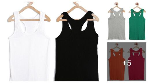 Trendy Cotton Hosiery Solid Women's Camisole Combo