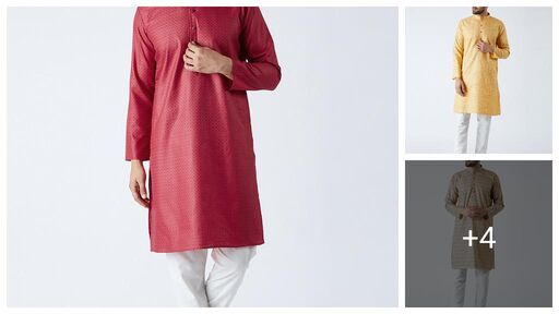 Elegant Men's Cotton Blend Men's Kurta Sets