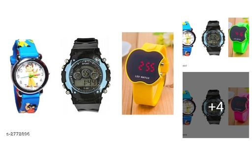 Trendy Rubber Digital Kid's Watches Combo