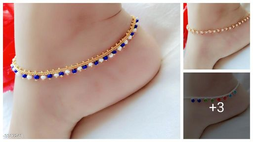 Twinkling Trendy Alloy Women's Anklet's