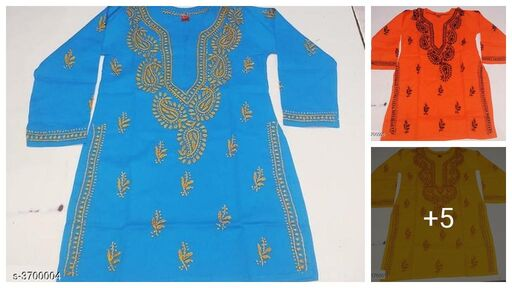 Stylish 100% Soft Cotton Printed Kid's Girl Kurtis