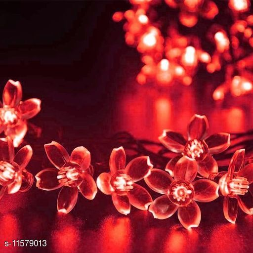 Electronic Lightings Crystal Flower lights (red)  *Pack* Pack of 1  *Sizes Available* Free Size *    Catalog Name: Classic Electronic Lightings CatalogID_2181566 C128-SC1314 Code: 482-11579013-