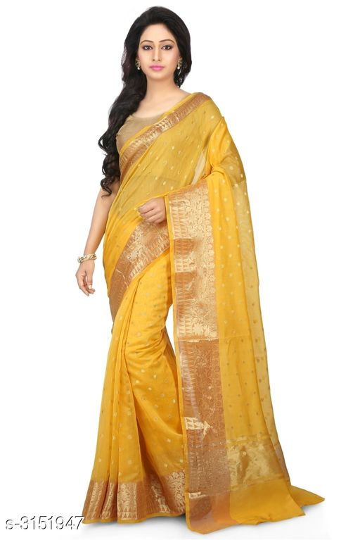 Sarees Elegant Chanderi Silk Women's Saree  *Fabric* Saree - Chanderi Silk , Blouse - Chanderi Silk  *Size* Saree Length With Running Blouse - 6.30 Mtr  *Work* Zari Woven  *Sizes Available* Free Size *    Catalog Name: Abirami Zari Woven Chanderi Chanderi Silk Sarees CatalogID_408120 C74-SC1004 Code: 9741-3151947-