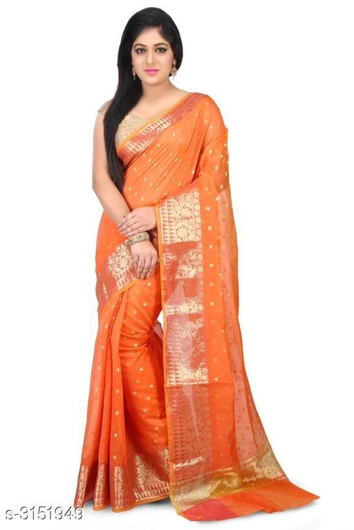 Sarees Elegant Chanderi Silk Women's Saree  *Fabric* Saree - Chanderi Silk , Blouse - Chanderi Silk  *Size* Saree Length With Running Blouse - 6.30 Mtr  *Work* Zari Woven  *Sizes Available* Free Size *    Catalog Name: Abirami Zari Woven Chanderi Chanderi Silk Sarees CatalogID_408120 C74-SC1004 Code: 9741-3151949-