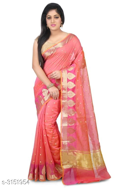 Sarees Elegant Chanderi Silk Women's Saree  *Fabric* Saree - Chanderi Silk , Blouse - Chanderi Silk  *Size* Saree Length With Running Blouse - 6.30 Mtr  *Work* Zari Woven  *Sizes Available* Free Size *    Catalog Name: Abirami Zari Woven Chanderi Chanderi Silk Sarees CatalogID_408120 C74-SC1004 Code: 9741-3151954-