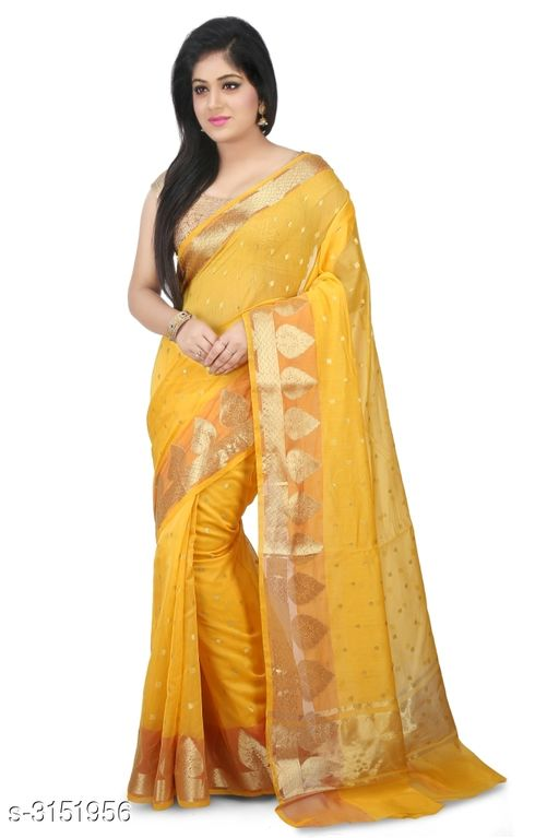 Sarees Elegant Chanderi Silk Women's Saree  *Fabric* Saree - Chanderi Silk , Blouse - Chanderi Silk  *Size* Saree Length With Running Blouse - 6.30 Mtr  *Work* Zari Woven  *Sizes Available* Free Size *    Catalog Name: Abirami Zari Woven Chanderi Chanderi Silk Sarees CatalogID_408120 C74-SC1004 Code: 9741-3151956-