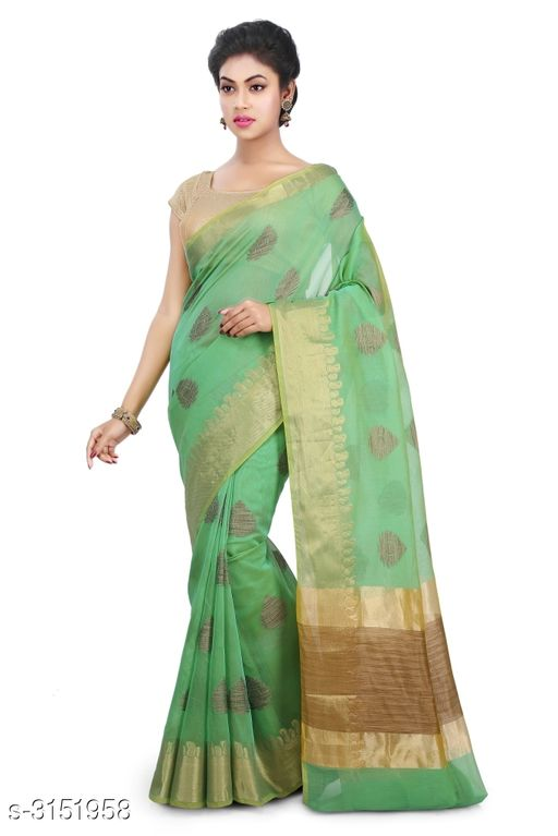 Sarees Elegant Chanderi Silk Women's Saree  *Fabric* Saree - Chanderi Silk , Blouse - Chanderi Silk  *Size* Saree Length With Running Blouse - 6.30 Mtr  *Work* Zari Woven  *Sizes Available* Free Size *    Catalog Name: Abirami Zari Woven Chanderi Chanderi Silk Sarees CatalogID_408120 C74-SC1004 Code: 9741-3151958-