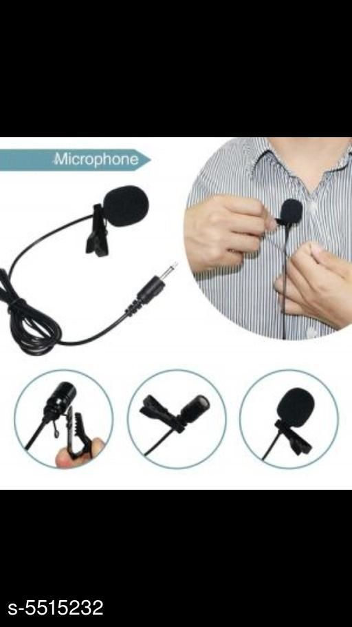 Microphone  Unique Solid Microphone Product Type : Microphone Material: Plastic Size : Free Size  Jack :3.5 mm Type: Condenser Microphone Frequency range: 20Hz-16KHz Sensitivity: -30dB +/-2dB RL=2.2k Ohm VS=3V Plug socket: 3.5mm Cable length: Approx. 1.5m / 5ft Portable : Yes Description: It Has 1 Piece Of Microphone Country of Origin: India Sizes Available: Free Size   Catalog Rating: ★3.8 (98)  Catalog Name: Unique Solid Microphone Vol 1 CatalogID_823601 C98-SC1504 Code: 382-5515232-