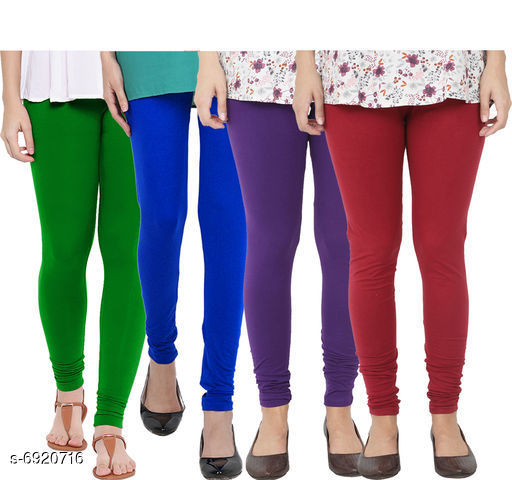Leggings & Tights  Fancy Fashionista Women Leggings  Fabric: 100% Pure Cotton Lycra Pattern: Solid Multipack: 4 Sizes:  30 (Waist Size: 30 in Length Size: 40 in)  32 (Waist Size: 34 in Length Size: 40 in)  34 (Waist Size: 34 in Length Size: 40 in)  36 (Waist Size: 36 in Length Size: 40 in)  38 (Waist Size: 38 in Length Size: 40 in) Country of Origin: India Sizes Available: Free Size, 28, 30, 32, 34, 36, 38   Catalog Rating: ★3.9 (498)  Catalog Name: Fancy Fashionista Women Leggings CatalogID_1104989 C79-SC1035 Code: 804-6920716-