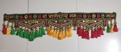 Toran & Wall Hangings TORAN AND HANGINGS  *Material* Handicraft  *Pack* Pack of 1  *Sizes Available* Free Size *    Catalog Name: Graceful Festive Toran CatalogID_1335151 C128-SC1318 Code: 725-8068025-
