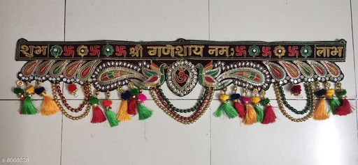 Toran & Wall Hangings TORAN AND HANGINGS  *Material* Handicraft  *Pack* Pack of 1  *Sizes Available* Free Size *    Catalog Name: Graceful Festive Toran CatalogID_1335151 C128-SC1318 Code: 725-8068028-