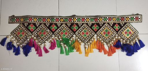 Toran & Wall Hangings TORAN AND HANGINGS  *Material* Handicraft  *Pack* Pack of 1  *Sizes Available* Free Size *    Catalog Name: Graceful Festive Toran CatalogID_1335151 C128-SC1318 Code: 725-8068029-