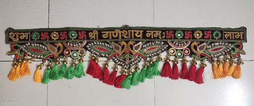 Toran & Wall Hangings TORAN AND HANGINGS  *Material* Handicraft  *Pack* Pack of 1  *Sizes Available* Free Size *    Catalog Name: Graceful Festive Toran CatalogID_1335151 C128-SC1318 Code: 725-8068031-